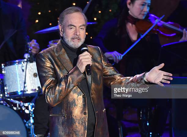 Neil Diamond performs at the 84th Rockefeller Center Christmas Tree Lighting at Rockefeller Center on November 30 2016 in New York City