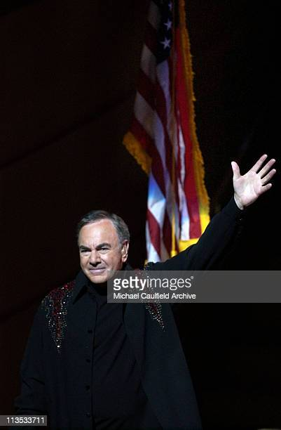 Neil Diamond performs for Kerry Victory 2004 Concert at Walt Disney Concert Hall in Los Angeles June 24 2004