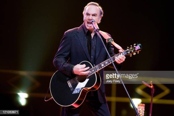 Neil Diamond performs live in concert at the Conseco Fieldhouse on July 29, 2008 in Indianapolis, Indiana.