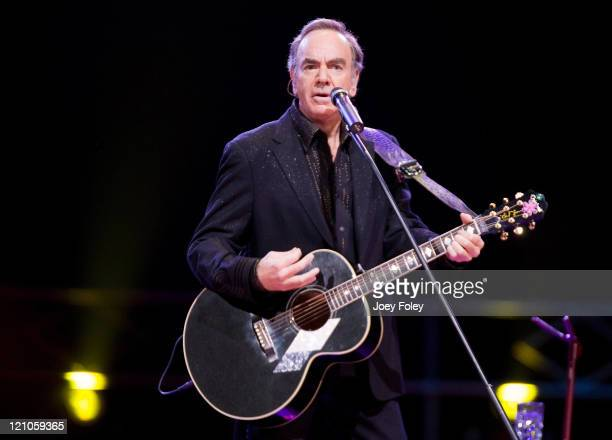 Neil Diamond performs live in concert at the Conseco Fieldhouse on July 29 2008 in Indianapolis Indiana