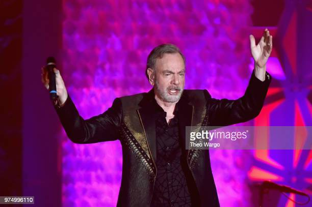 Neil Diamond performs onstage during the Songwriters Hall of Fame 49th Annual Induction and Awards Dinner at New York Marriott Marquis Hotel on June...