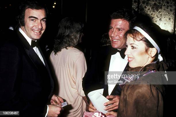 Neil Diamond William Shatner and Marcy Lafferty during AFI Lifetime Achievement Award Salute to Fred Astaire at Beverly Hilton Hotel in Beverly Hills...