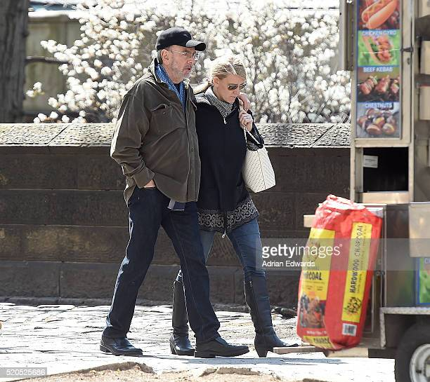 Neil Diamond with his wife Katie McNeil are seen out during a stroll in Central Park on April 11 2016 in New York City