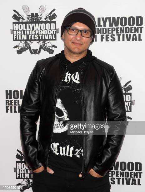 Neil D'Monte arrives at A Dark Foe Film Premiere on February 15 2020 in Los Angeles California