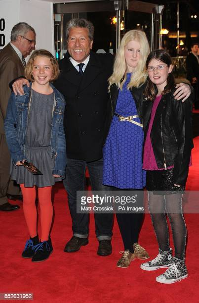 Neil 'Dr' Fox and family arriving for the World Premiere of The Hunger Games Catching Fire at the Odeon Leicester Square London