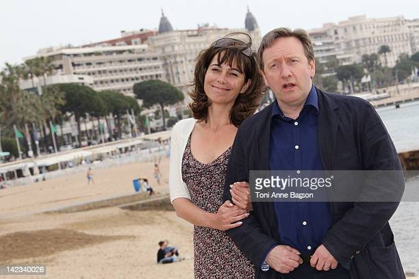 Neil Dudgeon and Fiona Dolman attend Midsomer Murders Photocall as part of MIP TV 2012 Hotel Majestic on April 2 2012 in Cannes France