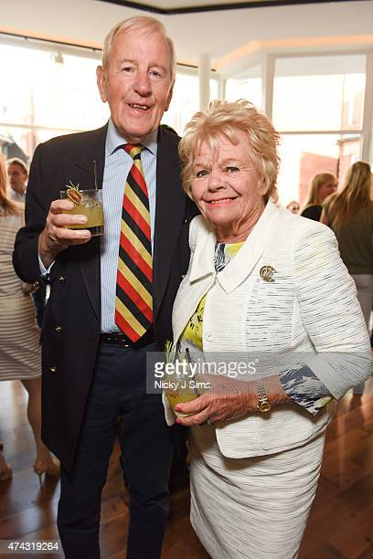 Neil DurdenSmith and Judith Chalmers at the launch of The Dot Project group show 'Distorted Vision' on May 21 2015 in London England