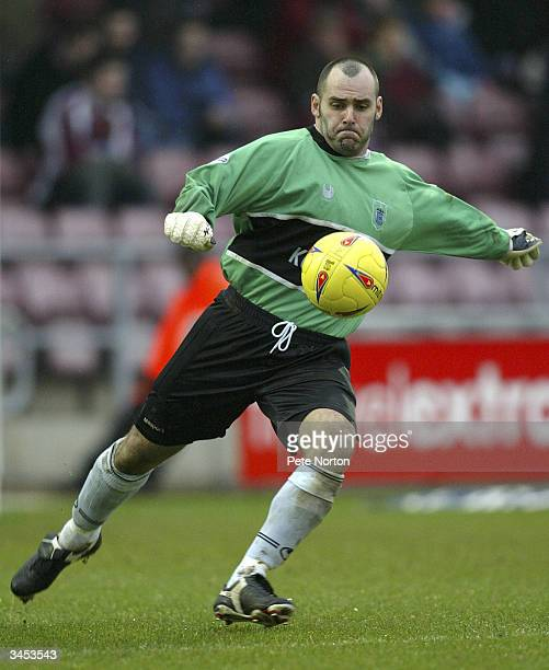 Neil Edwards of Rochdale kicks the ball out during the Nationwide League Division Three match between Northampton Town and Rochdale held on February...