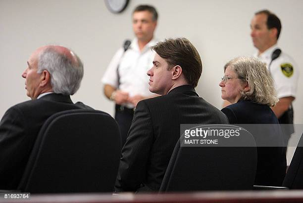 Neil Entwistle sits with his defense attorneys Elliot Weinstein and Stephanie Page at Entwistle's murder trial at Middlesex Superior Court June 24...
