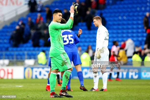 Neil Etheridge of Cardiff City after the final whistle of the Sky Bet Championship match between Cardiff City and Sunderland at the Cardiff City...
