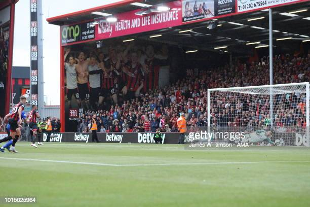 Neil Etheridge of Cardiff City saves the penalty of Callum Wilson of Bournemouth during the Premier League match between AFC Bournemouth and Cardiff...