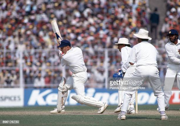 Neil Fairbrother batting for England during the 1st Test match between India and England at Eden Gardens Calcutta 30th January 1993 The Indian...