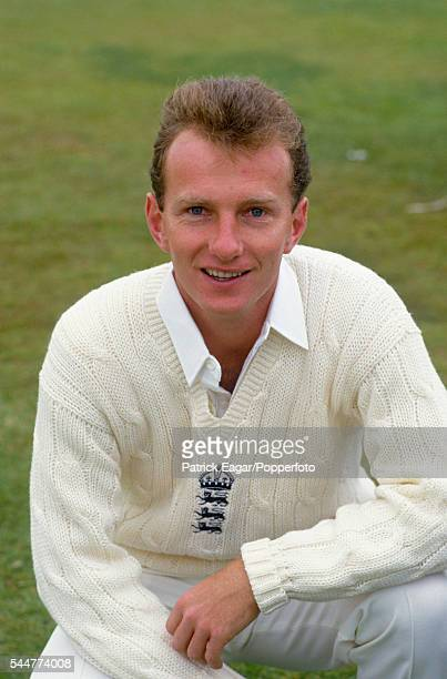 Neil Fairbrother on debut for England during the 1st Test match between England and Pakistan at Old Trafford Manchester 4th June 1987