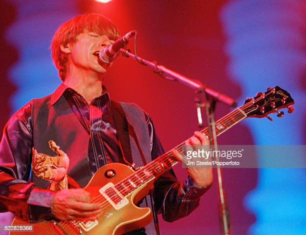Neil Finn of Crowded House performing on stage at the Wembley Arena in London on the 31st May 1994