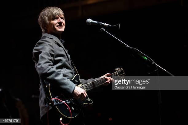 Neil Finn performs on stage during Falls Festival on December 30 2013 in Lorne Australia