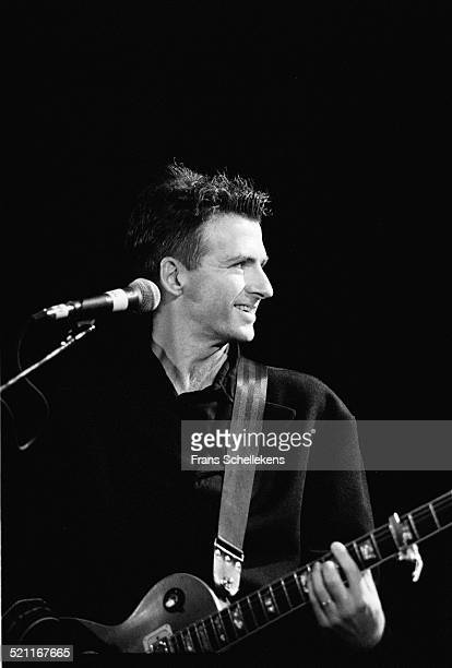 Neil Finn, performs with Crowded House on October 15th 1991 at Vredenburg in Utrecht, Netherlands.