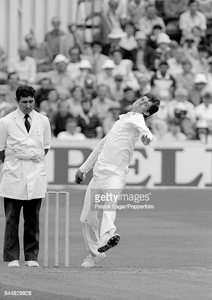 Neil Foster of Essex bowling at Chelmsford circa June 1983
