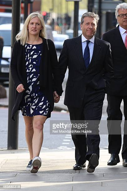 Neil Fox aka Dr Fox and his wife Vicky Fox arrive at Westminster Magistrates Court on April 16 2015 in London England