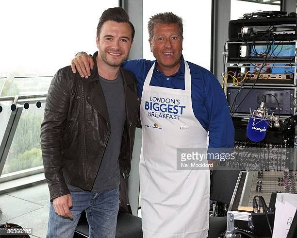 Neil Fox and Shane Filan at Magic 1054 FM's Live broadcast at City Hall promoting London's Biggest Breakfast fundraising event on Thursday 12th...