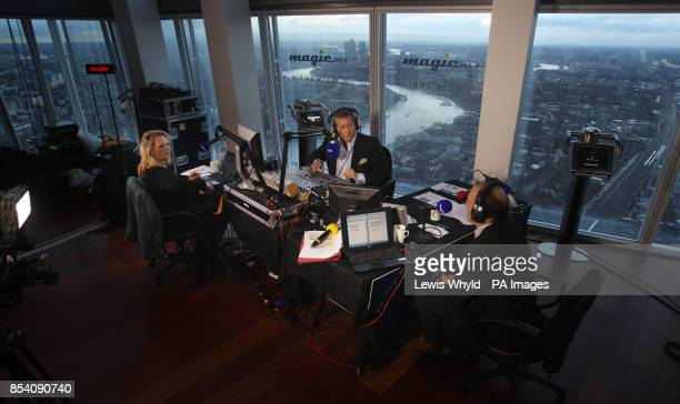 Neil Fox and Verity Geere broadcast Europes highest breakfast show as Magic 1054 go live from the 69th floor of the Shard in London
