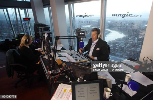 Neil Fox and Verity Geere broadcast Europe's highest breakfast show as Magic 1054 go live from the 69th floor of the Shard in London