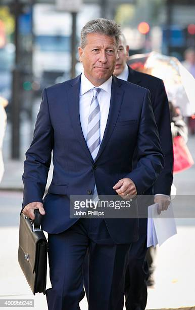 Neil Fox arrives to face sexual assault charges at The City of Westminster Magistrates Court on October 2, 2015 in London, England.