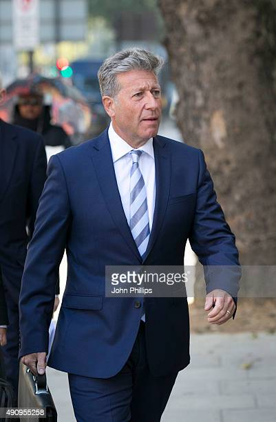 Neil Fox arrives to face sexual assault charges at The City of Westminster Magistrates Court on October 2 2015 in London England