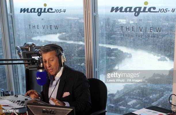 Neil Fox broadcasts Europe's highest breakfast show as Magic 1054 go live from the 69th floor of the Shard in London