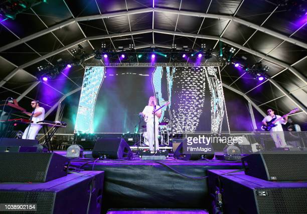 Neil Frances performs on Fremont Stage during the 2018 Life Is Beautiful Festival on September 23 2018 in Las Vegas Nevada