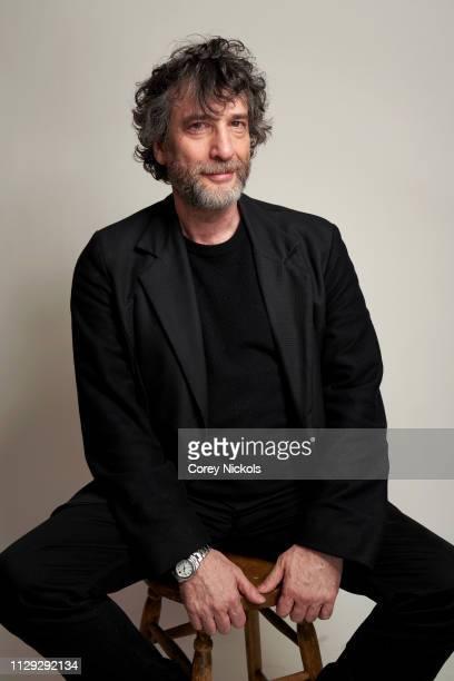 Neil Gaiman of Starz's 'American Gods' poses for a portrait at The Langham Huntington Pasadena on February 12 2019 in Pasadena California