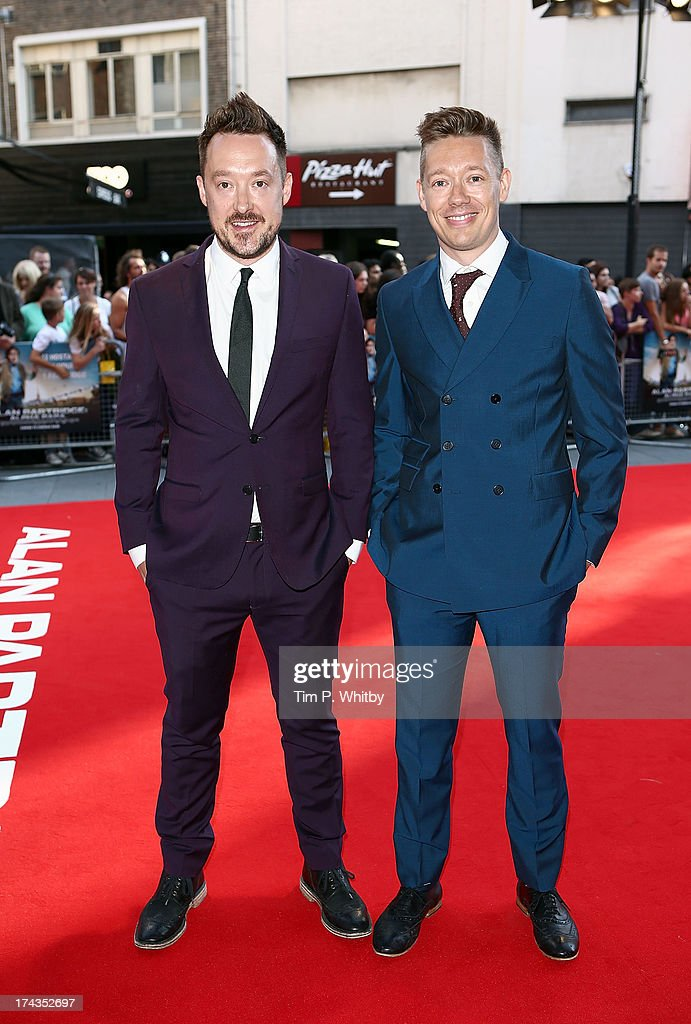 Neil Gibbons and Rob Gibbons attends the 'Alan Partridge: Alpha Papa' World Premiere Day at Vue Leicester Square on July 24, 2013 in London, England.