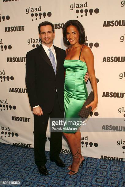 Neil Giuliano and Crystal McCrary Anthony attend 17th Annual GLAAD Media Awards at Marriott Marquis on March 27 2006 in New York City