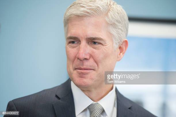 Neil Gorsuch Supreme Court Justice nominee meets with Sen Susan Collins RMaine in her Dirksen Building office February 9 2017