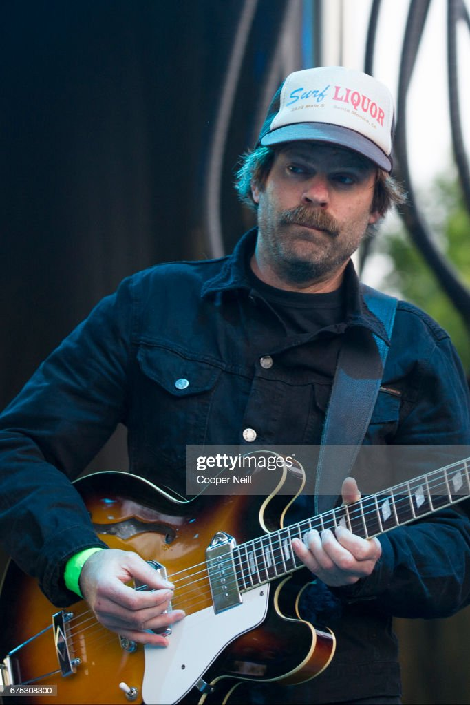 Neil Halstead of Slowdive performs during Fortress Festival on April 30, 2017 in Fort Worth, Texas.