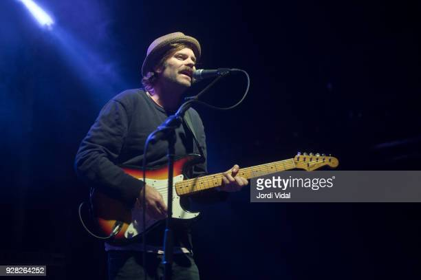 Neil Halstead of Slowdive performs on stage at Sala Apolo on March 6 2018 in Barcelona Spain