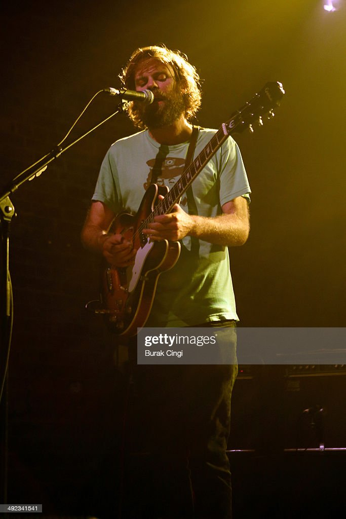 Neil Halstead of Slowdive performs on stage at Village Underground on May 19, 2014 in London, United Kingdom.