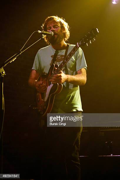 Neil Halstead of Slowdive performs on stage at Village Underground on May 19 2014 in London United Kingdom