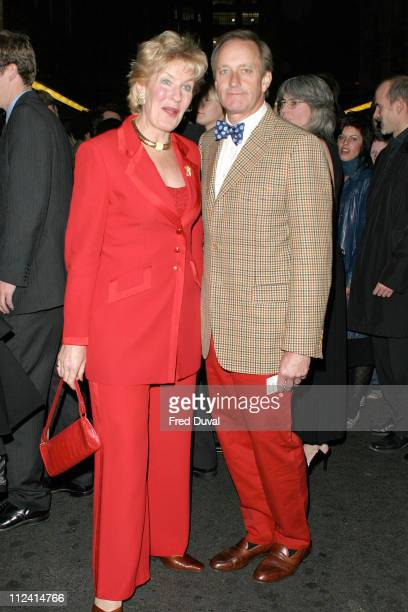 Neil Hamilton and Christine Hamilton during 'Murderous Instincts' Opening Night Arrivals at The Savoy Theatre in London Great Britain