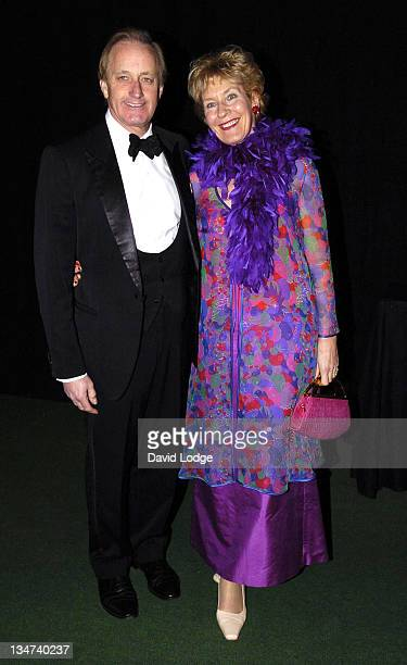 Neil Hamilton and Christine Hamilton during Students Partnership Worldwide Gala Dinner December 5 2005 at Planit Embankment in London Great Britain