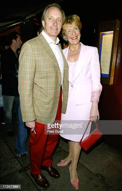 Neil Hamilton and Christine Hamilton during Wheels and Doll Baby Fashion Rocks Party at Embassy Club in London England Great Britain