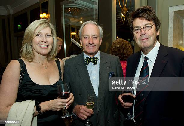 Neil Hamilton and Mike Read attend Nicholas Parsons 90th birthday party at the Churchill Hotel on October 8 2013 in London England