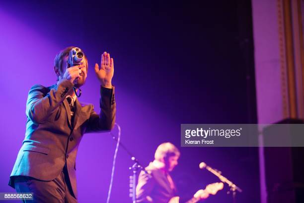 Neil Hannon and Tosh Flood of The Divine Comedy perform live at the Olympia Theatre on December 8 2017 in Dublin Ireland