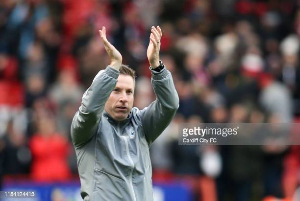 Neil Harris Manager of Cardiff City during the Sky Bet Championship match between Charlton Athletic and Cardiff City at The Valley on November 23...
