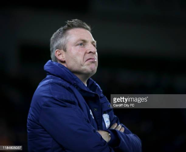 Neil Harris Manager of Cardiff City during the Sky Bet Championship match between Cardiff City and Stoke City at Cardiff City Stadium on November 26...