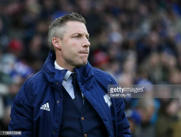 Neil Harris Manager of Cardiff City during the Sky Bet Championship match between Cardiff City and Millwall at Cardiff City Stadium on December 26...