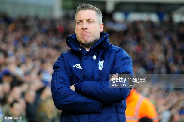 Neil Harris Manager of Cardiff City during the Sky Bet Championship match between Cardiff City and Swansea City at the Cardiff City Stadium on...