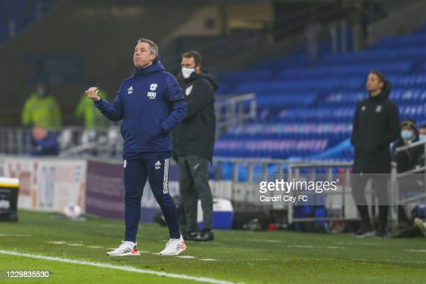 Neil Harris, Manager of Cardiff City during the Sky Bet Championship match between Cardiff City and Luton Town at Cardiff City Stadium on November...