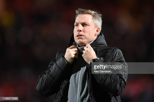 Neil Harris Manager of Cardiff City looks on during the Sky Bet Championship match between Brentford and Cardiff City at Griffin Park on December 11...