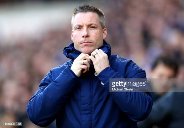 Neil Harris Manager of Cardiff City looks on during the Sky Bet Championship match between Cardiff City and Swansea City at Cardiff City Stadium on...