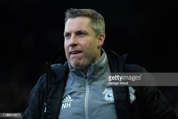 Neil Harris manager of Cardiff City reacts ahead of the Sky Bet Championship match between Sheffield Wednesday and Cardiff City at Hillsborough...